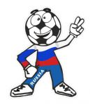 Novelty FOOTBALL HEAD MAN With Russia Russian Flag Motif For Football Soccer Team Supporter Vinyl Car Sticker 100x85mm
